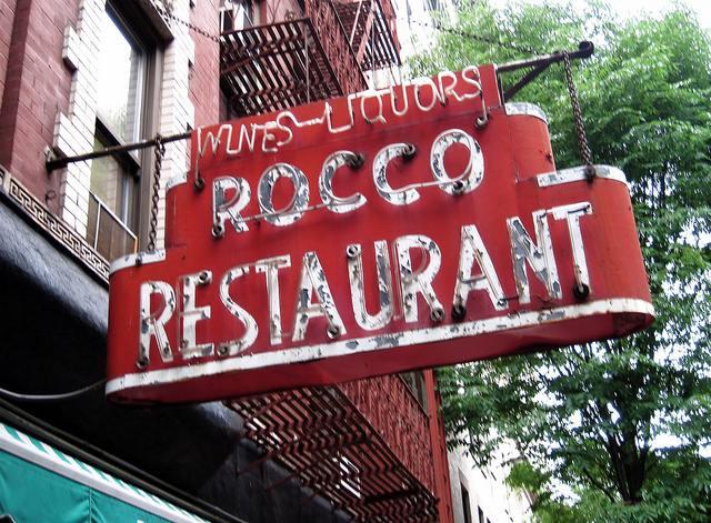Restaurant Greenwhich Village Old School Italian